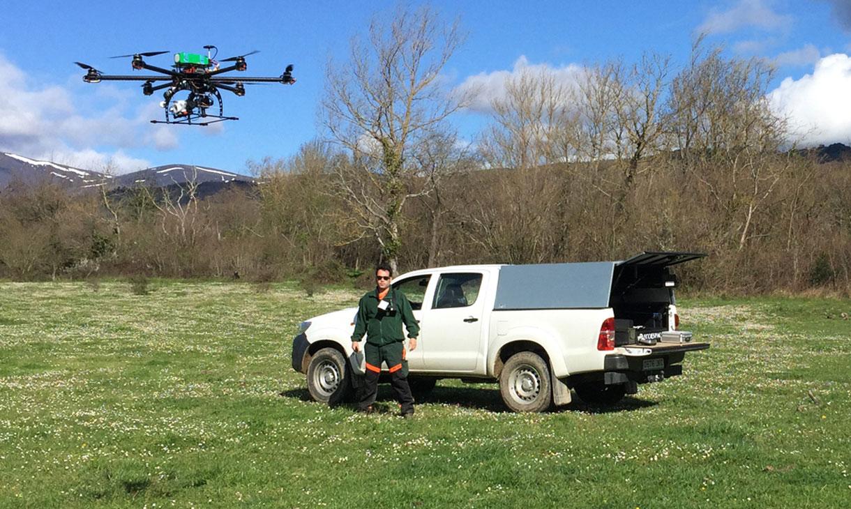 Inspección con Ecoespacio drones